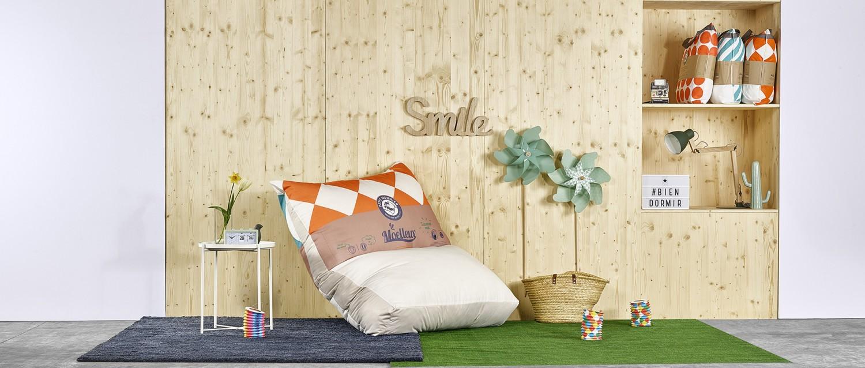 L'oreiller géant - moelleux - 120 x 140cm