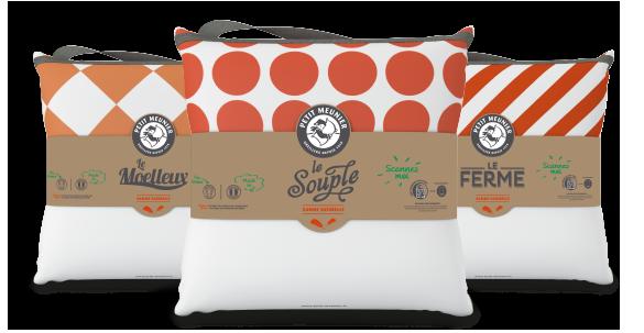 oreiller petit meunier Oreillers fabriqués en France : Petit Meunier, quel oreiller pour  oreiller petit meunier